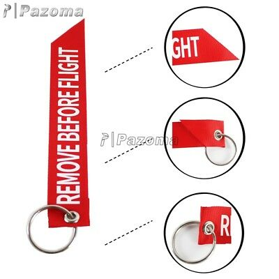 Streamer Key Ring Remove Before Flight Keychain Pilot Bag Luggage Tag Embroidery