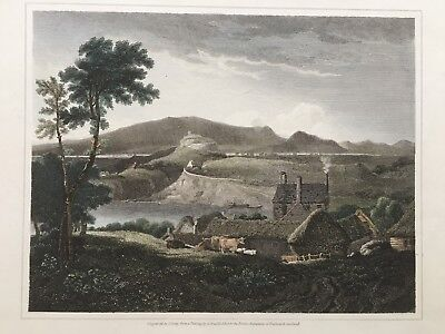 1815 Antique Print; Wark on Tweed Castle, Northumberland after George Arnald