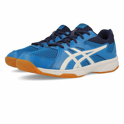 Asics Mens Gel-Upcourt 3 Indoor Court Shoes Blue Sports Breathable Lightweight