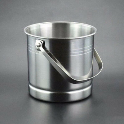 1L Stainless Steel Ice Bucket Cooler Wine Champagne Bar Beer Cooler Handle Party
