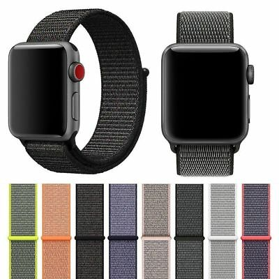 Woven Nylon Breathable Replacement Sport Loop Band for Apple Watch Series 3/2/1