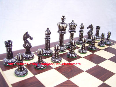 Nice Camel Bone Intricately Hand Carved Unique Chess Set Without Chessboard