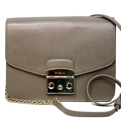 b7ce4b5670a13 Woman Bag FURLA METROPOLIS S CROSSBODY light brown leather bag SABBIA b  941916