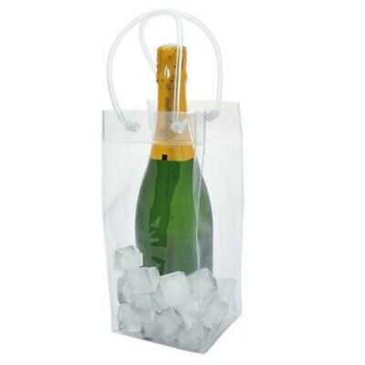 Champagne Drink Wine Beer Ice Bag PVC Bottle Cooler Chiller For Picnics Parties