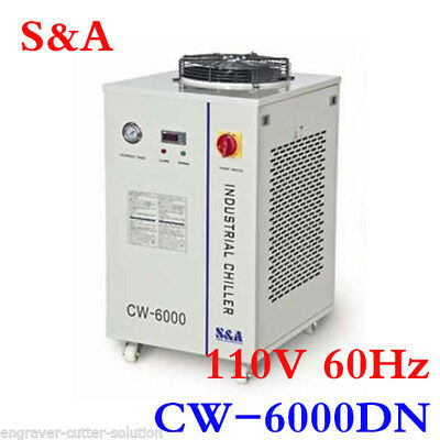 S&A CW-6000DN Industrial Water Chiller for 100W Solid-state Laser, CNC Spinde
