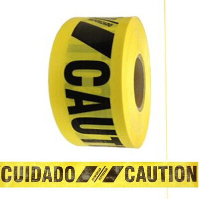 Reinforced Barricade Tape Caution/Cuidado 8 Roll Case