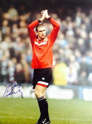 Eric Cantona Authentic Signed 16X12 Photo Aftal#198