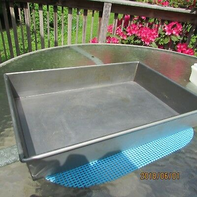 "Commercial Grade Steel Cook Pan Deep Tray 18"" X 12"" X 3"""