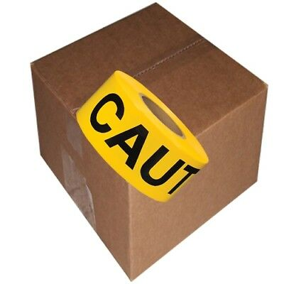 Barricade Tape Caution Yellow 3 inch x 300 ft Non Adhesive 3 mil 1(6 Roll Case)