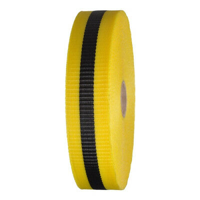 Woven Barricade Tape 2 in x 150 ft Yellow with Black Stripe (48 Roll Case)