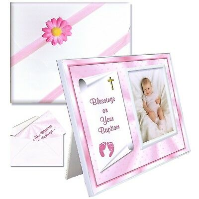 Baptism Gift for Baby Girls Picture Frame | Affordable, Colorful | Holds ... New
