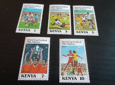 Kenya 1986 Sg 379-383 World Cup Football Mnh
