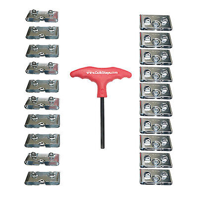 4X 10 Pairs of Southco Male & Female Roto Lock Butt Joint Receptacles. T-Handle