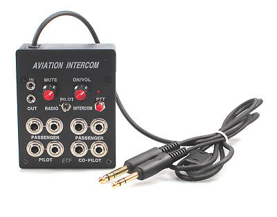 Equipped to Fly - Pilots 4 Place Portable Stereo Aviation Intercom