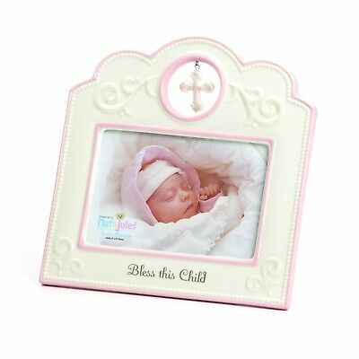 Nat and Jules Bless This Child Frame, Pink New
