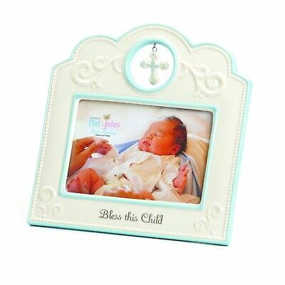 Nat and Jules Bless This Child Frame, Blue New