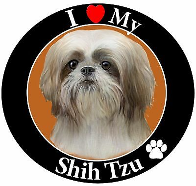 E & S Pets Car Magnet, Shih Tzu, Tan/White Puppy Cut New