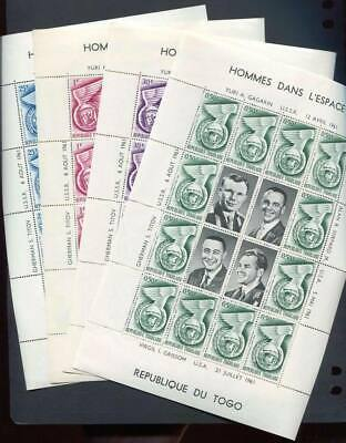 36399) TOGO 1961 MNH** Men in the space MS x 4