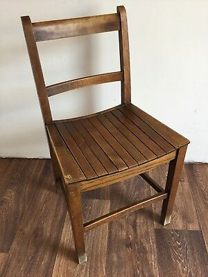 Phenomenal Vintage Chair Arts And Crafts Wooden Chair Slatted Seat Machost Co Dining Chair Design Ideas Machostcouk