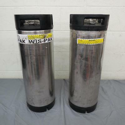 (2) Corco 5-Gallon Stainless Steel Ball Lock Sealing Tank Home Brewing Kegs LOOK