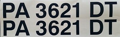 """2 3/"""" Custom made for YOU 12YR VINYL BOAT NUMBERS FREE SAME DAY SHIPPING!"""
