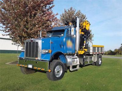 FINANCEABLE TREE/CONST.CRANE 2008 6x6 Peterbilt w/ 89' Vertical Reach Effer 210