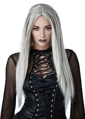 Witch Vampire Gothic Matriarch Women Adult Costume Wig - Black or Grey