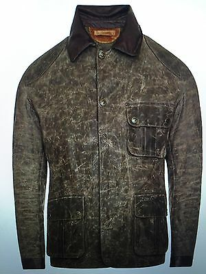 Brand New Barbour Warwick Insulated Leather & Waxed Cotton Jacket L $499