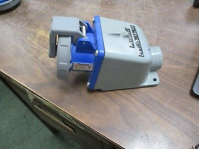 Hubbell Receptacle w/ Base 430R9VO 30A 250V 3Ph Used
