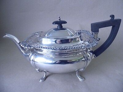 Quality Gorgeous Large 818 Grams Sterling Silver Pierced Tea Pot 1919