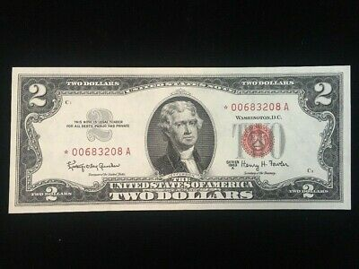 US $2 Red Seal Star Note Series 1963 A
