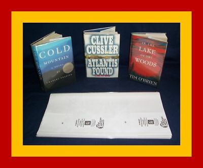 "5 - 9 1/4"" x 19"" Brodart Fold-on Book Jacket Covers - Lo-Luster clear mylar"