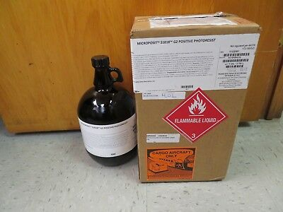 New Dow Microposit S1818 G2 Positive Photoresist 1 Gallon  3.765 Liter