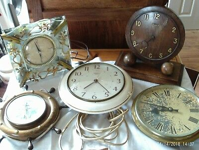 job lot of 5 clocks for spares or repair