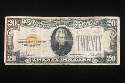 US $20 Gold Certificate Series 1928