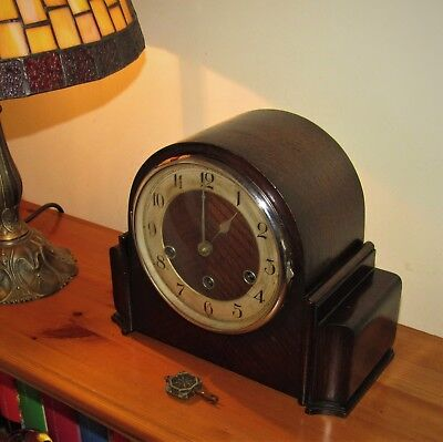 Very Nice 1930's Haller German Westminster Chiming Mantle Clock.