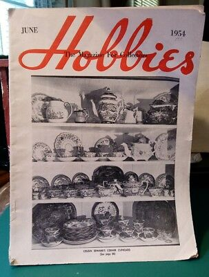 VINTAGE - Hobbies The Magazine For Collectors June 1954. Educational, fun read