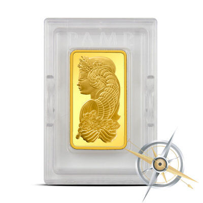10 oz PAMP Suisse Fortuna .9999 Fine Gold Bar With Assay Certificate in Plastic