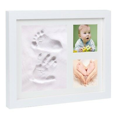 Baby Hand and Foot Prints Picture Frame Kit with Clay-Perfect for Baby Sh... New