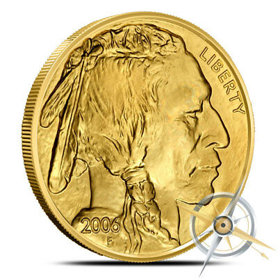 1 oz .9999 Fine (24k) $50 Gold American Buffalo Coin Random Date (Our Choice) BU