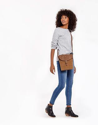 Joules Tourer Tweed Cross Body Bag in Tan Check in One Size