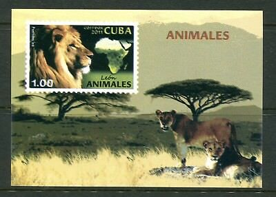 Thematic 2011 Fauna. Wild Animals lion MS MNH