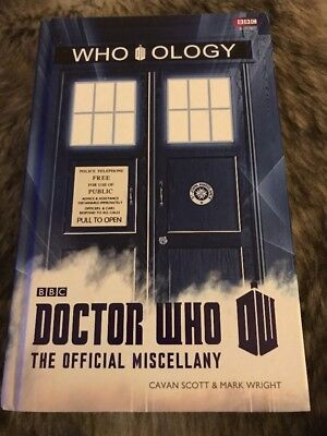 Dr WHO WHO OLOGY HARD BACK BOOK THE OFFICIAL MISCELLANY! RRP£12.99 Collectible