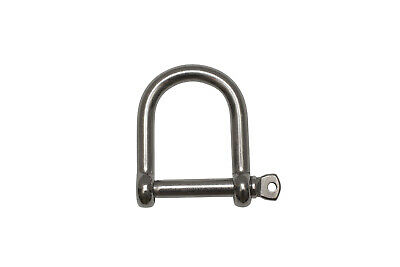 Pack of 2 AISI 316 Wide D Shackle 12mm