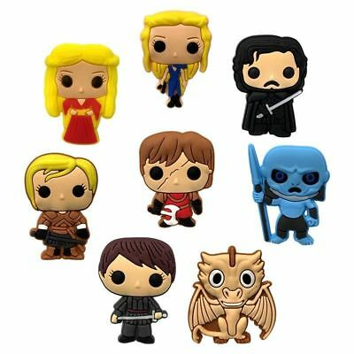 8 New Game Of Thrones jibbitz crocs wrist loom band shoe charms cake toppers
