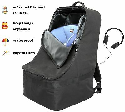 Foldable Padded Travel Car Seat Backpack Waterproof Bag W Extra S