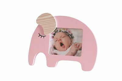 Newborn Baby Girl Desktop Picture Frame Pink Elephant New