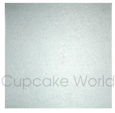 """NEW 8"""" SILVER SQUARE MASONITE 5mm THICK WOOD WOODEN CAKE BOARD BASE FREE POSTAGE"""