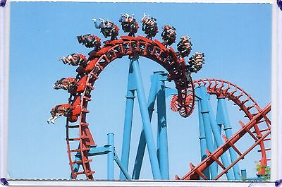 Thunderhawk (Serial Thriller) Stand Up Roller Coaster,geauga Lake-Aurora,oh