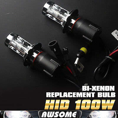 2x H4-3 100W 6000K White HID Xenon Headlamp Replacement Car Auto Light Bulbs AC